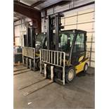 """6,000 LB YALE MODEL GLP060 LP GAS LIFT TRUCK; S/N B875B16334F, 229"""" LIFT HEIGHT, 3,180 HOURS SHOWING"""