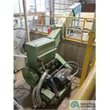 RAPID MODEL 2242M PROFILE CHUTE CENTRAL GRANULATOR; S/N 80,836, DUST COLLECTOR SITS OUTSIDE, 100