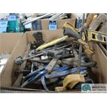 (LOT) MISC. C-CLAMPS, VISE GRIPS & GEAR PULLERS