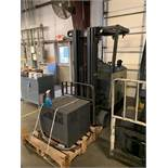 3,000 LB CROWN MODEL RC3000 ELECTRIC STAND-UP LIFT TRUCK; S/N 1A296776