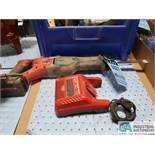 18 VOLT MILWAUKEE CAT NO. 2621-20 CORDLESS SAWZALL WITH CHARGER