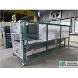 """CMM MODEL CM1050 DUAL HEAD CNC FENCE ROUTER; S/N N/A, 10"""" X 12' LONG (APPROX.) ROLLER TABLES"""
