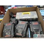(LOT) BOSCH 30 MINUTE BATTERY CHARGER WITH AIR BANDER REPAIR KIT
