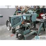 """ELLIS MODEL 1600 PORTABLE MITRE BASE HORIZONTAL BANDSAW; S/N 16111079 WITH (2) 24"""" WIDE SAW HORSE"""