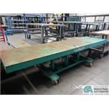 "30"" X 120"" X 2,000 LB. MODEL STN-30-10-2F-A LEXCO PORTABLE MANUAL HYDRAULIC LIFT TABLE"