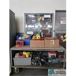 (LOT) LARGE ASSORTMENT LOCK-OUT DEVICES, SAFETY EQUIPMENT WITH CART AND CABINET