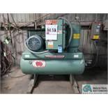 30 HP GARDNER-DENVER MODEL EBERFB HORIZONTAL TANK AIR COMPRESSOR; S/N M11452