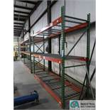 SECTIONS 3' X 9' X 8' HIGH PALLET RACK WITH DECKING