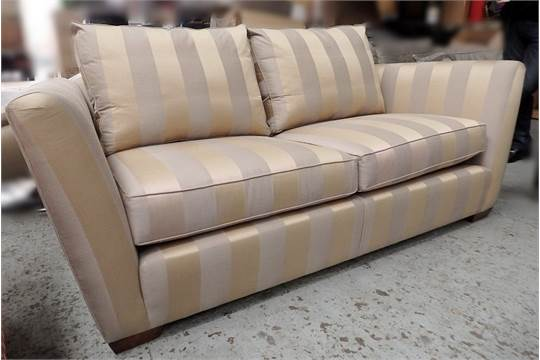 1 X Duresta Mandalay Striped Fabric Sofa Nsions W200
