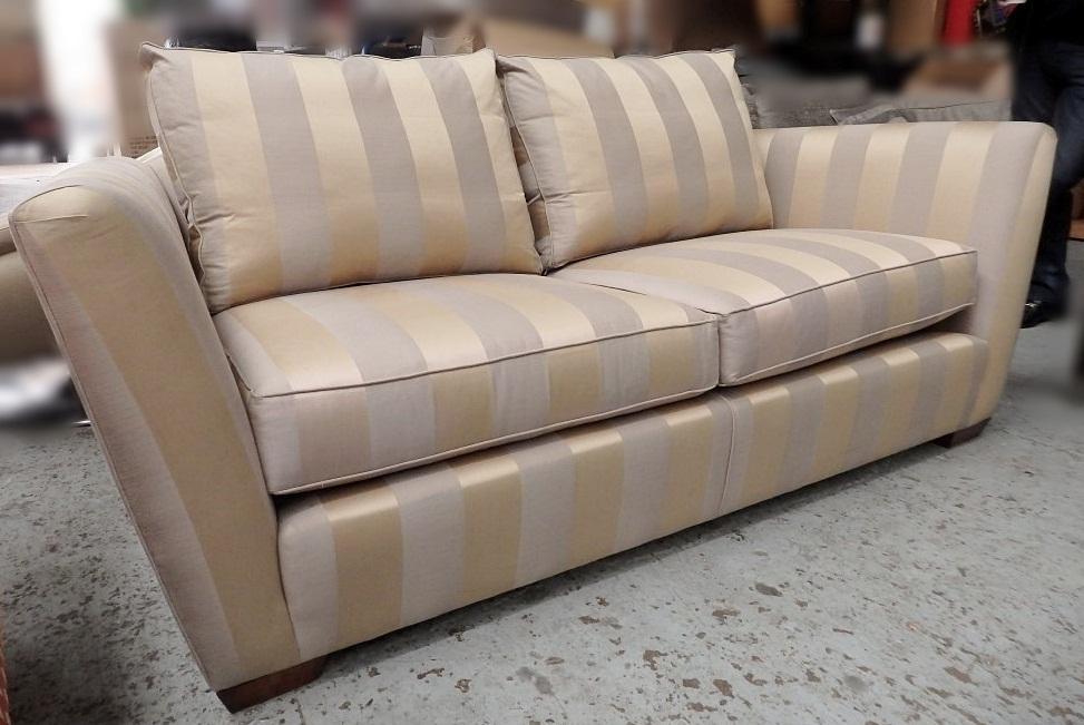 Striped Fabric Sofa Clic Fabric Double Sofa Bed Thesofa