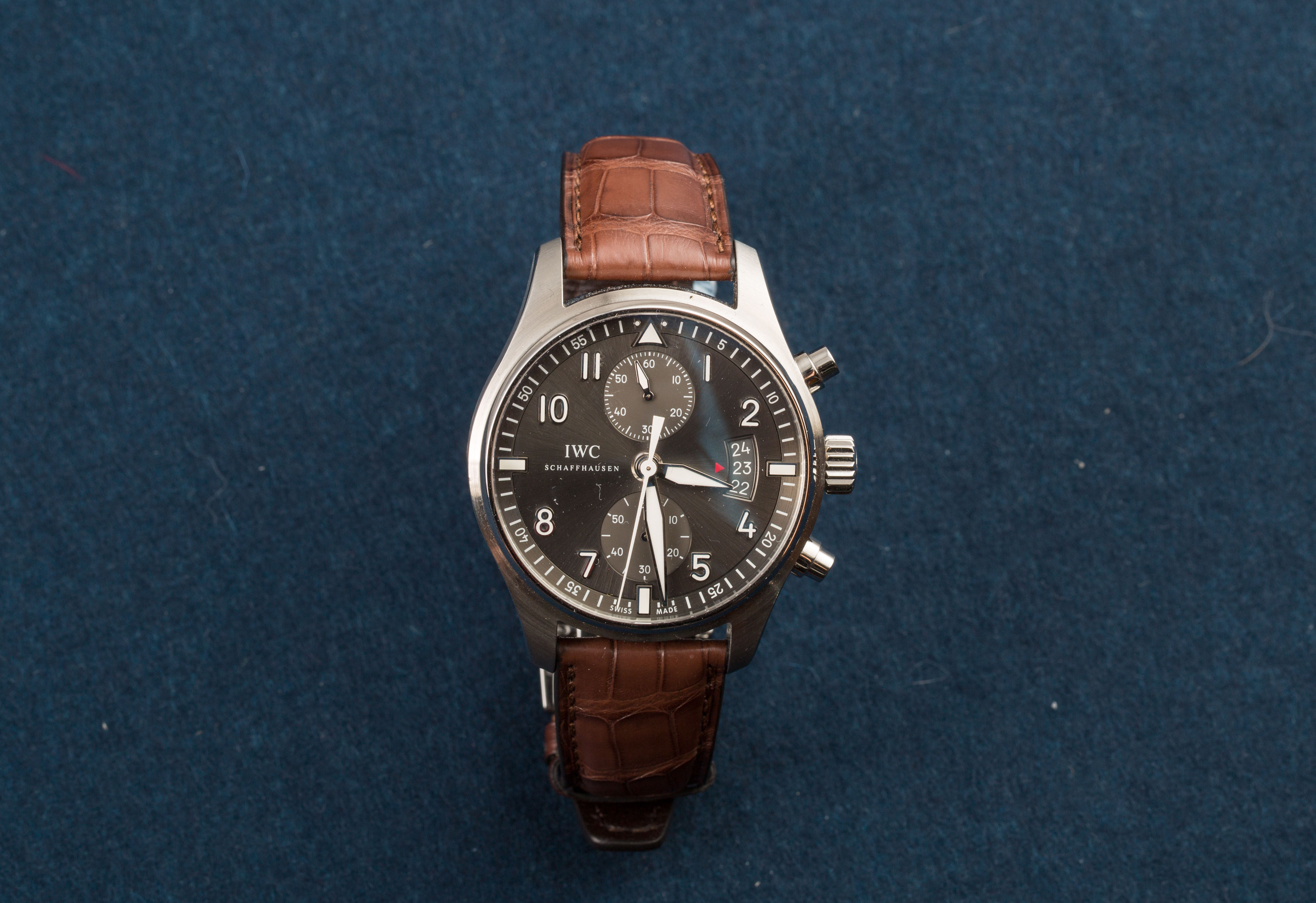 Lot 8 - IWC Pilot Spitfire Chronograph New Old Stock Ref IW387804