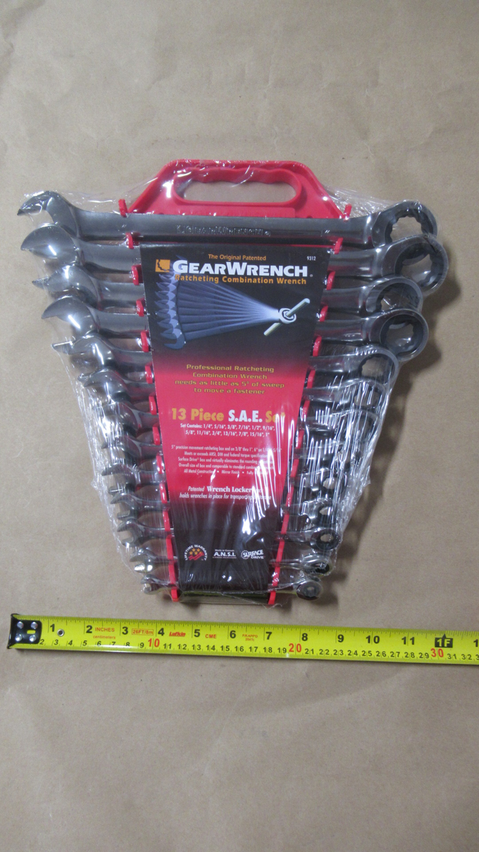 """Lot 139 - 13 PCS SAE 1/4""""-1"""" RATCHETING COMBINATION WRENCH GW 9312"""