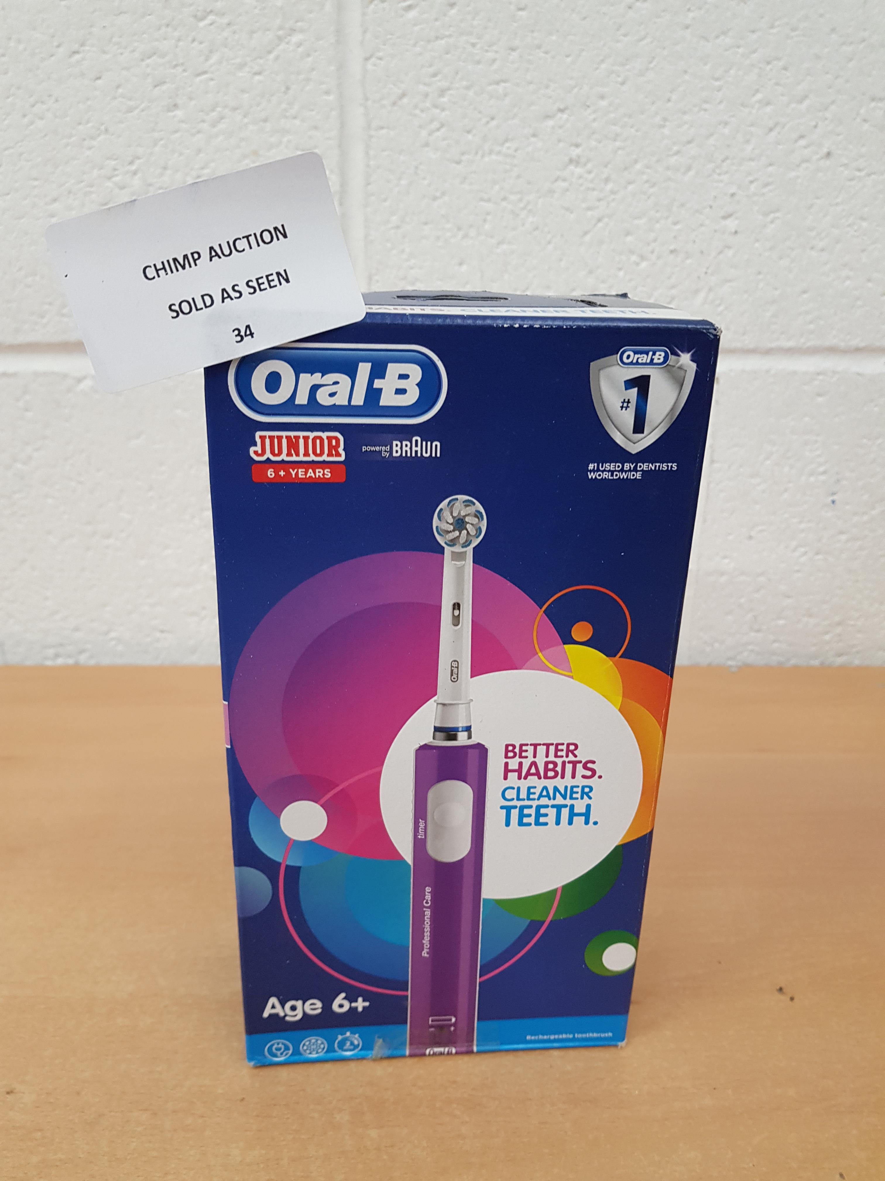 Lot 34 - Oral-B Junior Kids Braun electric toothbrush
