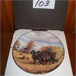 "Gerogia Jarvis Plate "" Harvest Gold"
