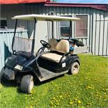 Solar Powered Golf Cart, with Metal carrier on back