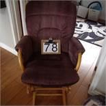 Wooden rocking chair,