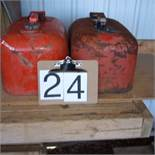 Boat gas cans, metal
