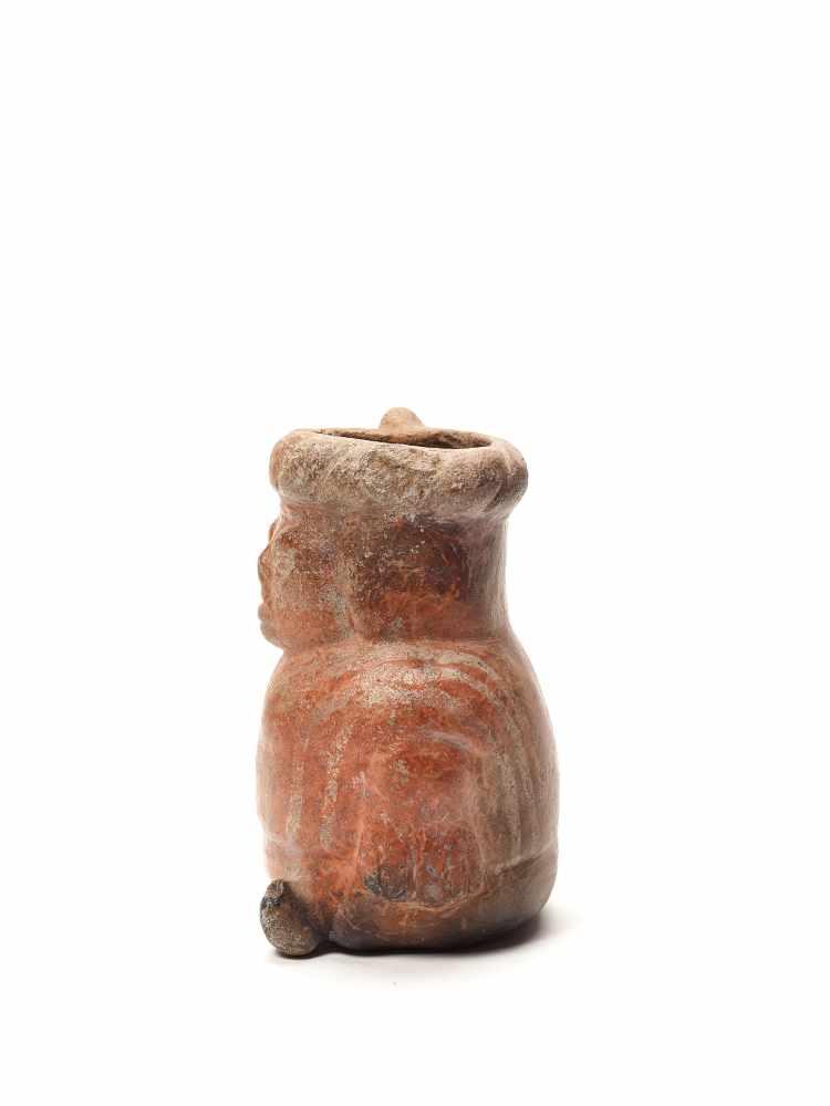 VESSEL IN THE FORM OF A DWARF - MOCHE CULTURE, PERU, C. 500 ADFired clayMoche culture, Peru, c. - Image 2 of 4