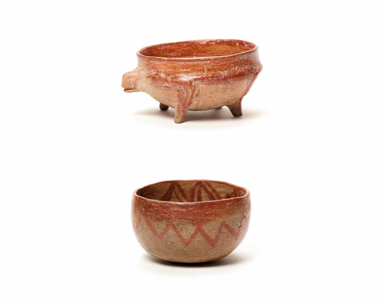 TWO BOWLS – PROBABLY CHARCHI CULTURE, ECUADOR, C. 850 – 1500 ADFired clayProbably Charchi culture,