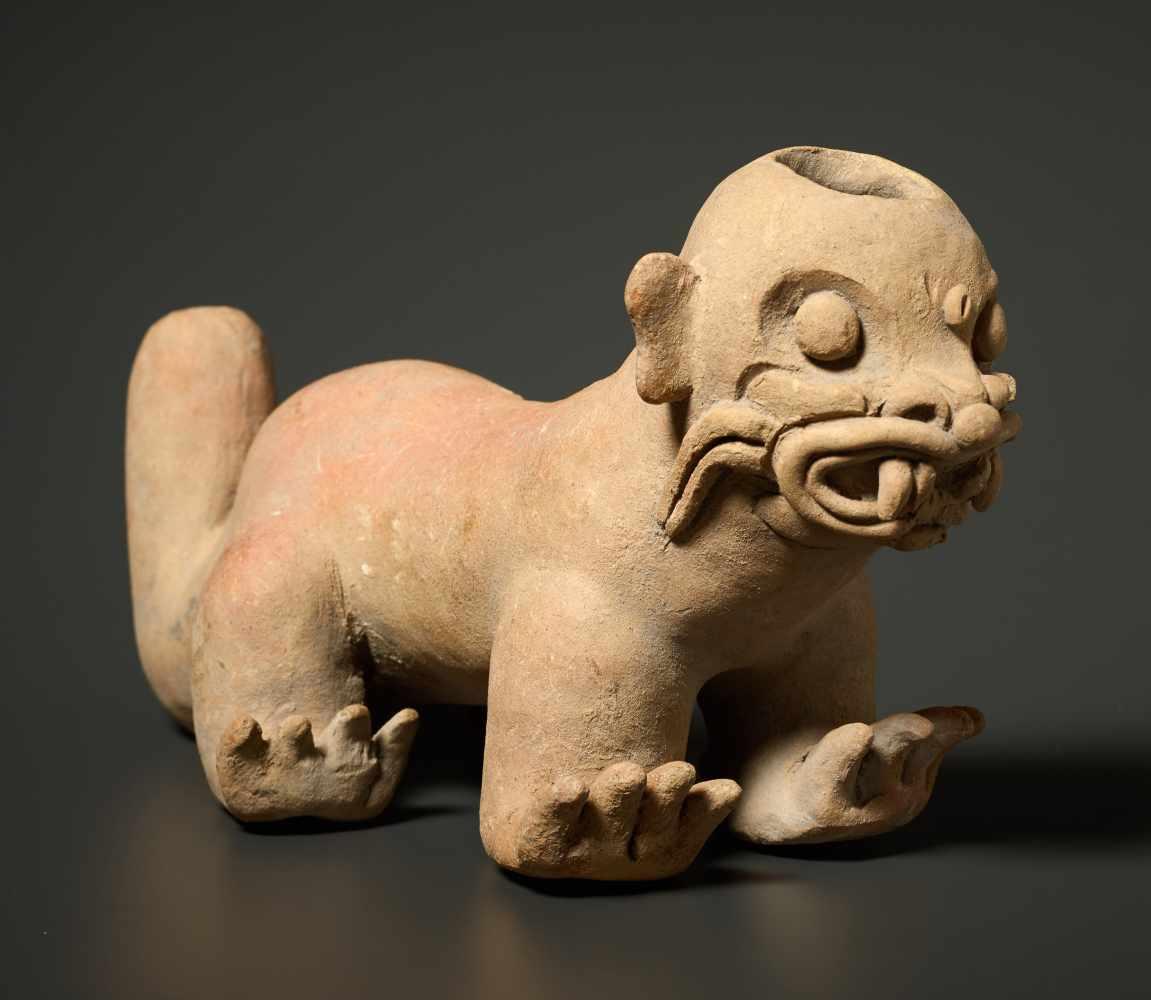 TL-TESTED JAGUAR VESSELFired clay Pre-Columbian America, La Tolita, approx. 4th cent.TL-test
