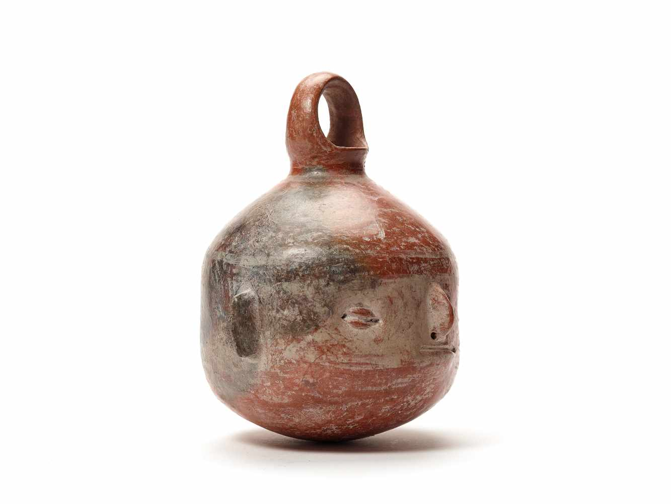 TL-TESTED HEAD-SHAPED VESSEL - VICUS CULTURE, PERU, C. 1st CENTURY BCFired clayVicus culture, - Image 4 of 4