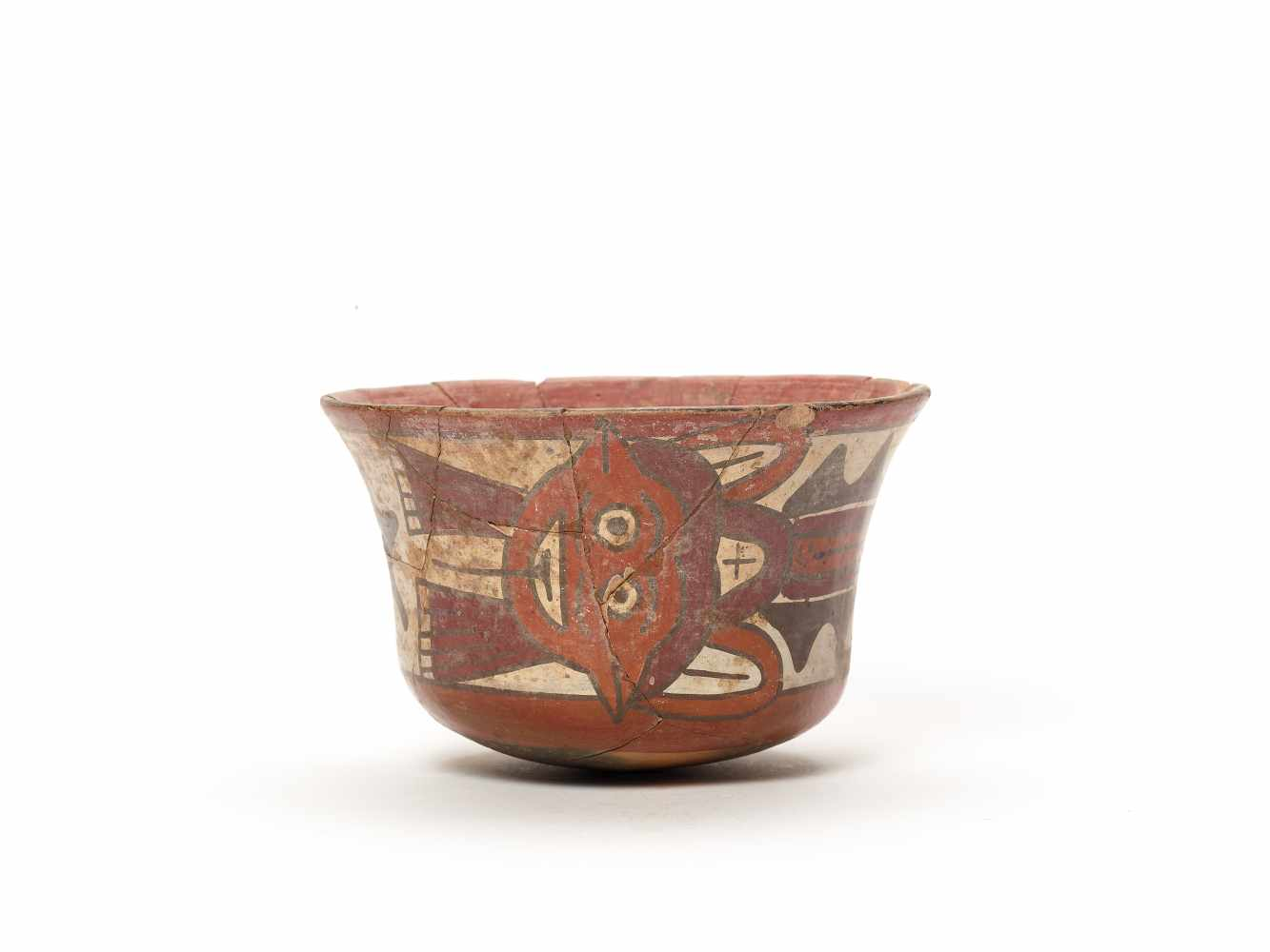 BOWL WITH GOD REPRESENTATION - NAZCA, PERU, C. 300-600 ADPainted clayNazca, Peru, c. 300-600