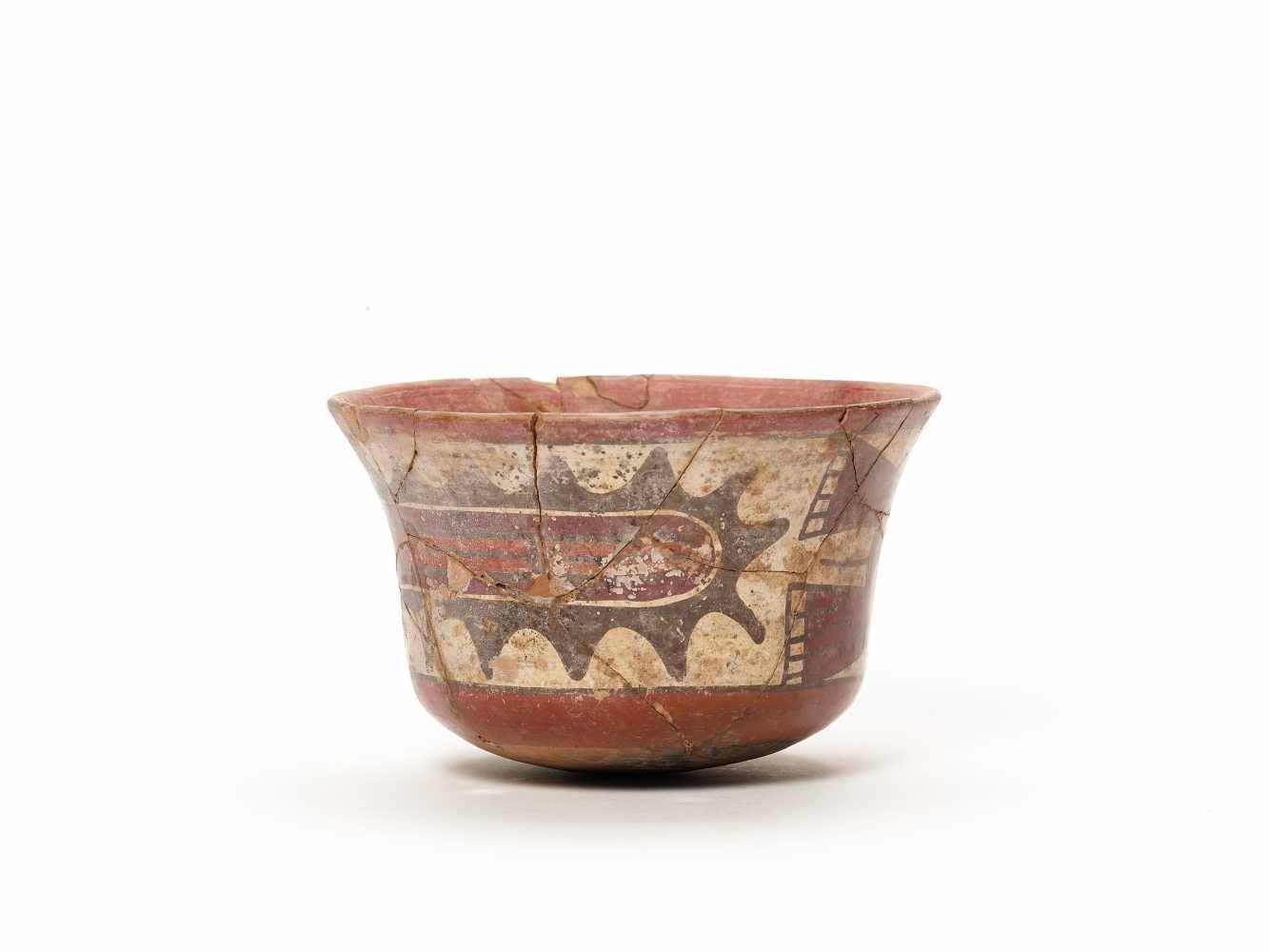 BOWL WITH GOD REPRESENTATION - NAZCA, PERU, C. 300-600 ADPainted clayNazca, Peru, c. 300-600 - Image 3 of 3