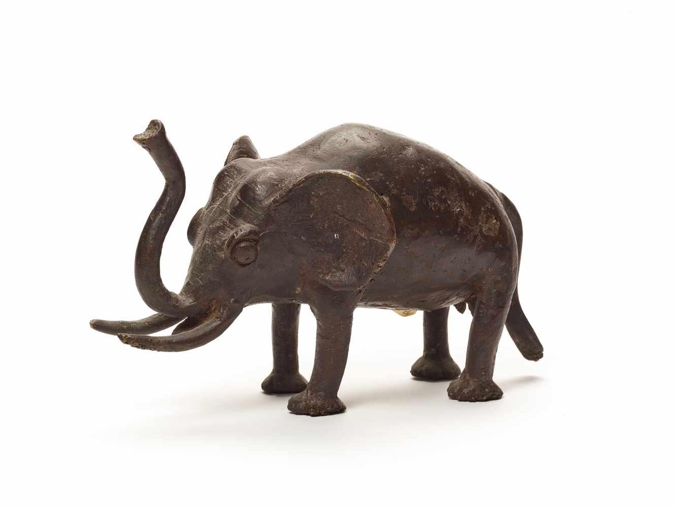 BRONZE ELEPHANT – BOBO PEOPLEBronzeBobo-Dioulasso, Burkina Faso, West Africa; 20th century This