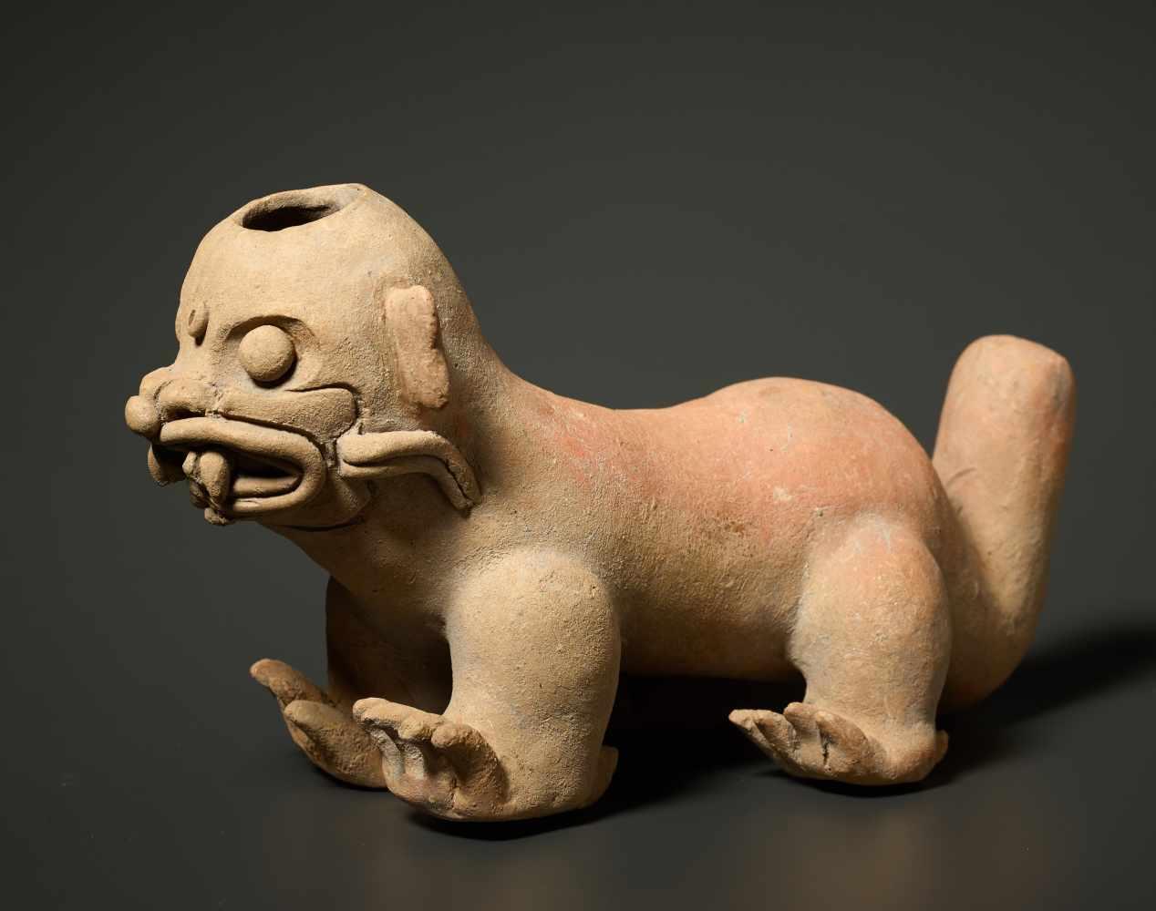 TL-TESTED JAGUAR VESSELFired clay Pre-Columbian America, La Tolita, approx. 4th cent.TL-test - Image 2 of 4
