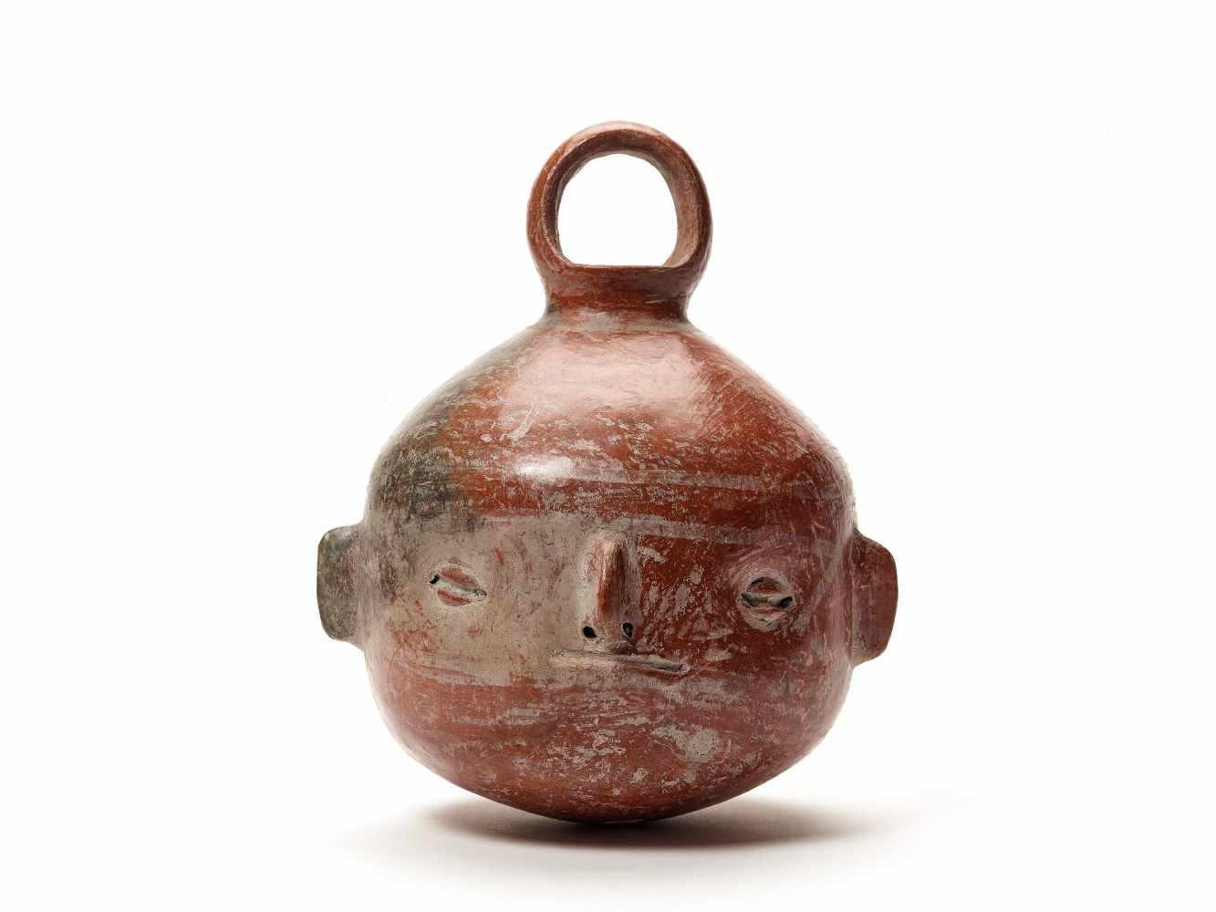TL-TESTED HEAD-SHAPED VESSEL - VICUS CULTURE, PERU, C. 1st CENTURY BCFired clayVicus culture, - Image 2 of 4