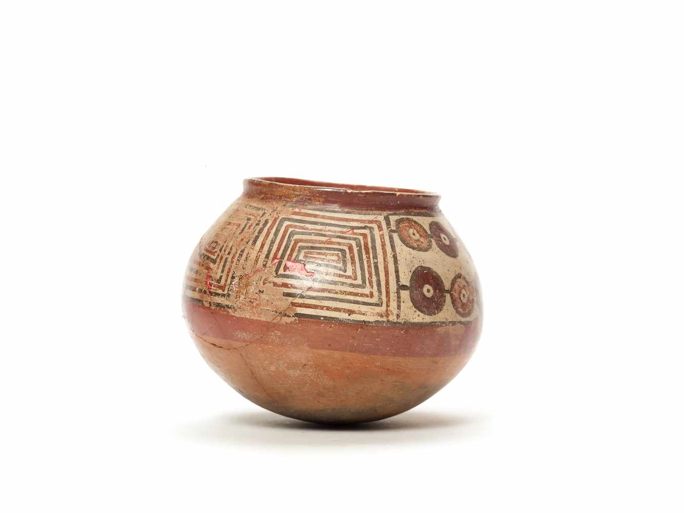 PAINTED CLAY POT - NAZCA, PERU, C. 300-600 ADPainted clayNazca, Peru, c. 300-600 ADSpherical form - Image 3 of 3