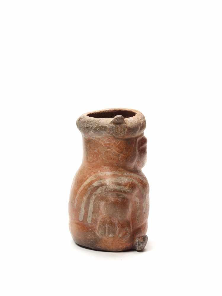VESSEL IN THE FORM OF A DWARF - MOCHE CULTURE, PERU, C. 500 ADFired clayMoche culture, Peru, c. - Image 4 of 4