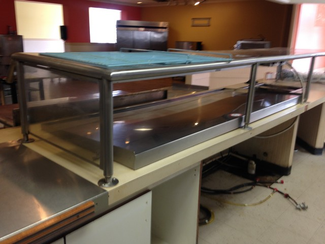 Hatco 84 x 32 pizza warmer 2 well steam table w sneeze guard - Sneeze guard for steam table ...