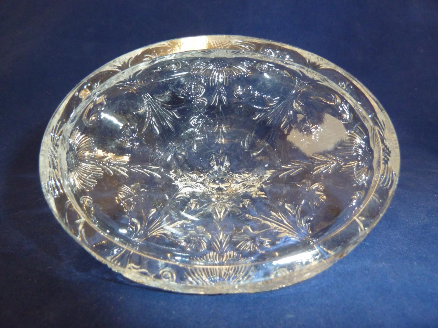 French Glass - a moulded colorless glass sugar box and cover, in the Rock Crystal style, the two - Image 7 of 9