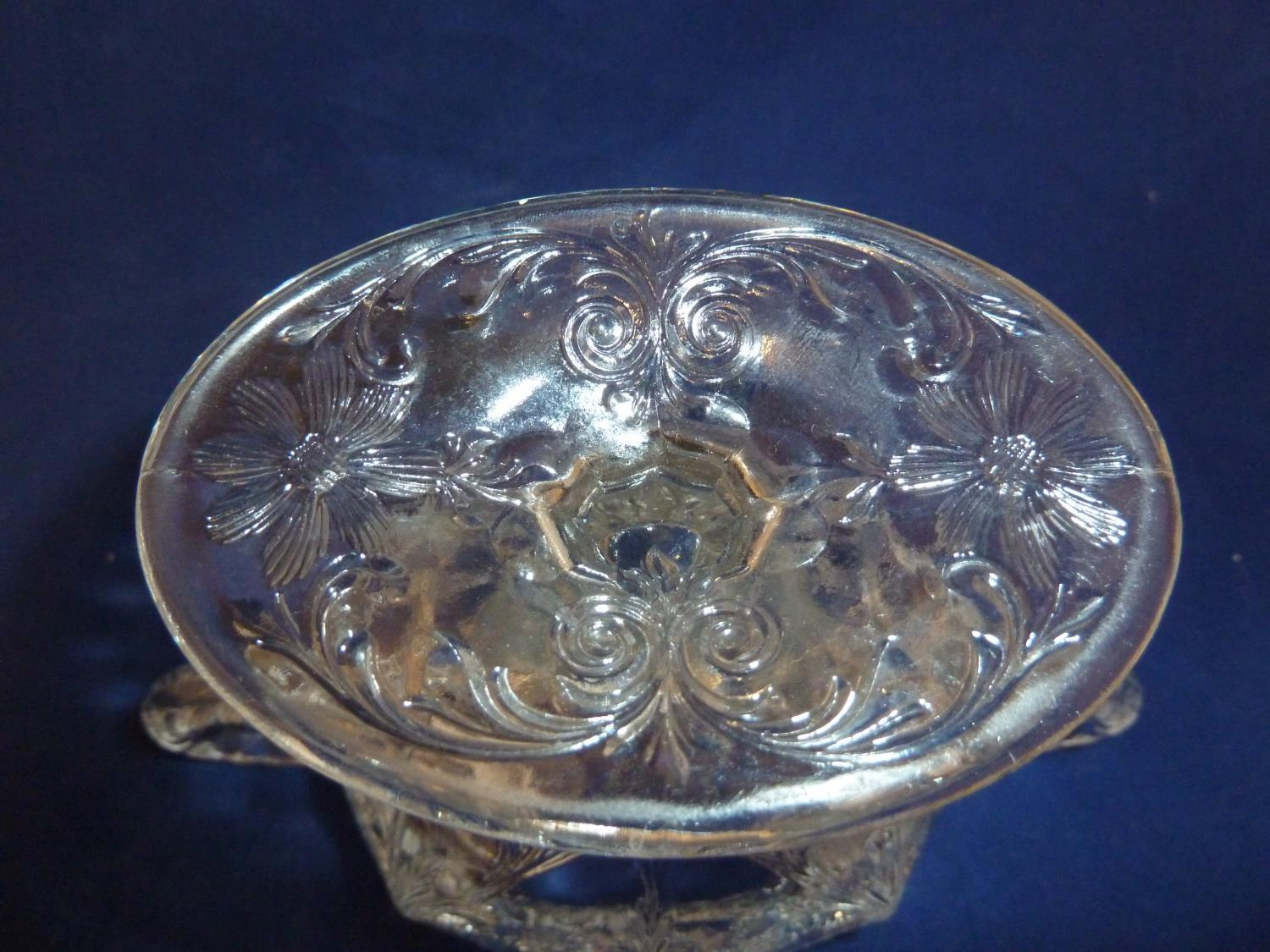 French Glass - a moulded colorless glass sugar box and cover, in the Rock Crystal style, the two - Image 9 of 9
