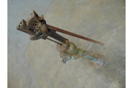 Lot 67 - Genuine Anitique Full Size Cast Iron Water Pump