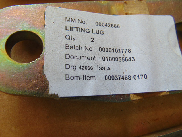 Lot 49 - Qty 16 x Unissued Lifting Lug, 8 x Short 8 x Long