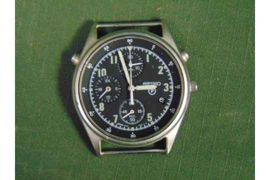 Lot 56 - 1 x Seiko Pilots Chronograph Generation 2, the part number is NSN6645-998149181. It is dated 1995
