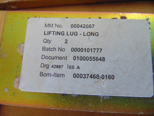 Lot 49 - Qty 16 x Unissued Lifting Lug, 8 x Short 8 x Long
