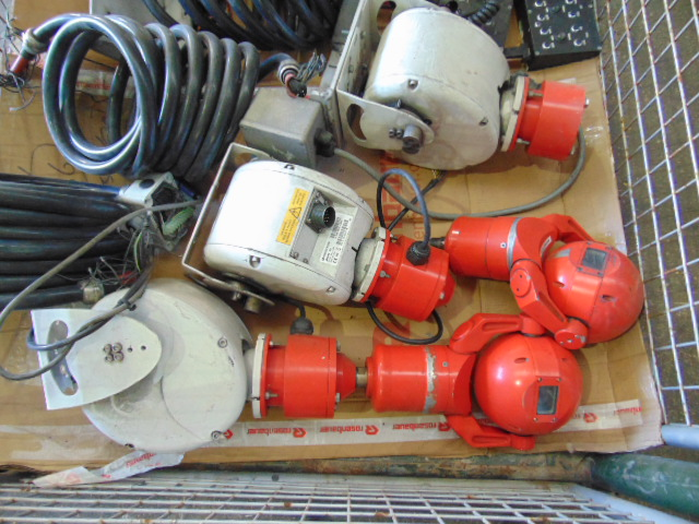 Lot 52 - Stillage of Ex-Fire Service Vehicle Mounted CCTV Cameras with Pan and Tilt Module and Control Units