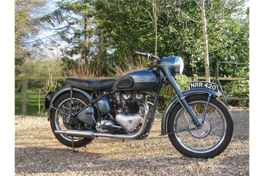 1952 650cc Triumph 6t Thunderbird Reg No Nrr 420 Frame No 32383
