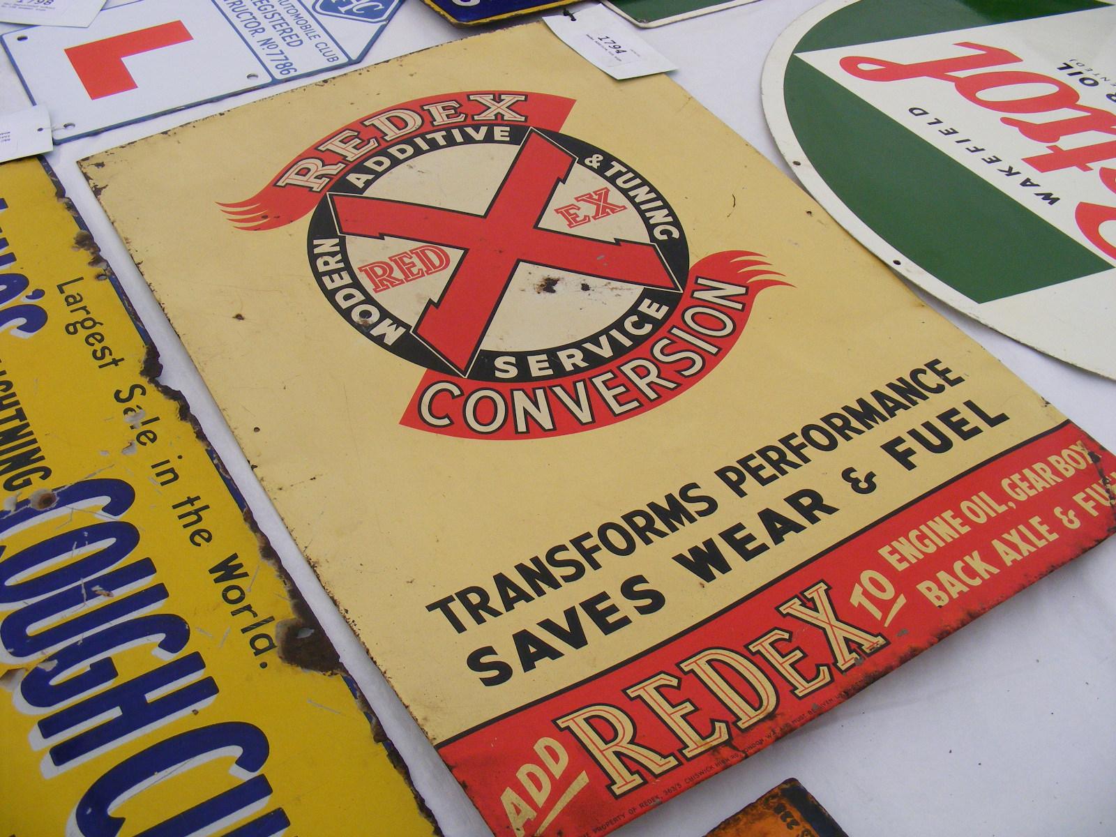 Redex Additive Tin Sign