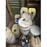 Pallet of mixed CHEMICALS unused West Polyol, Iso Propanol, Iso Cyanate, etc.