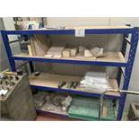 1 bay of ADJUSTABLE SHELVING 6' wide, 1500 x 1640 x 450mm and miscellaneous CONTENTS