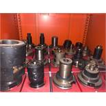 STEEL CABINETS and CONTENTS comprising approx 60 pieces BT50 tooling