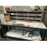 STEEL WORKBENCH with extraction canopy 1820 x 6000mm