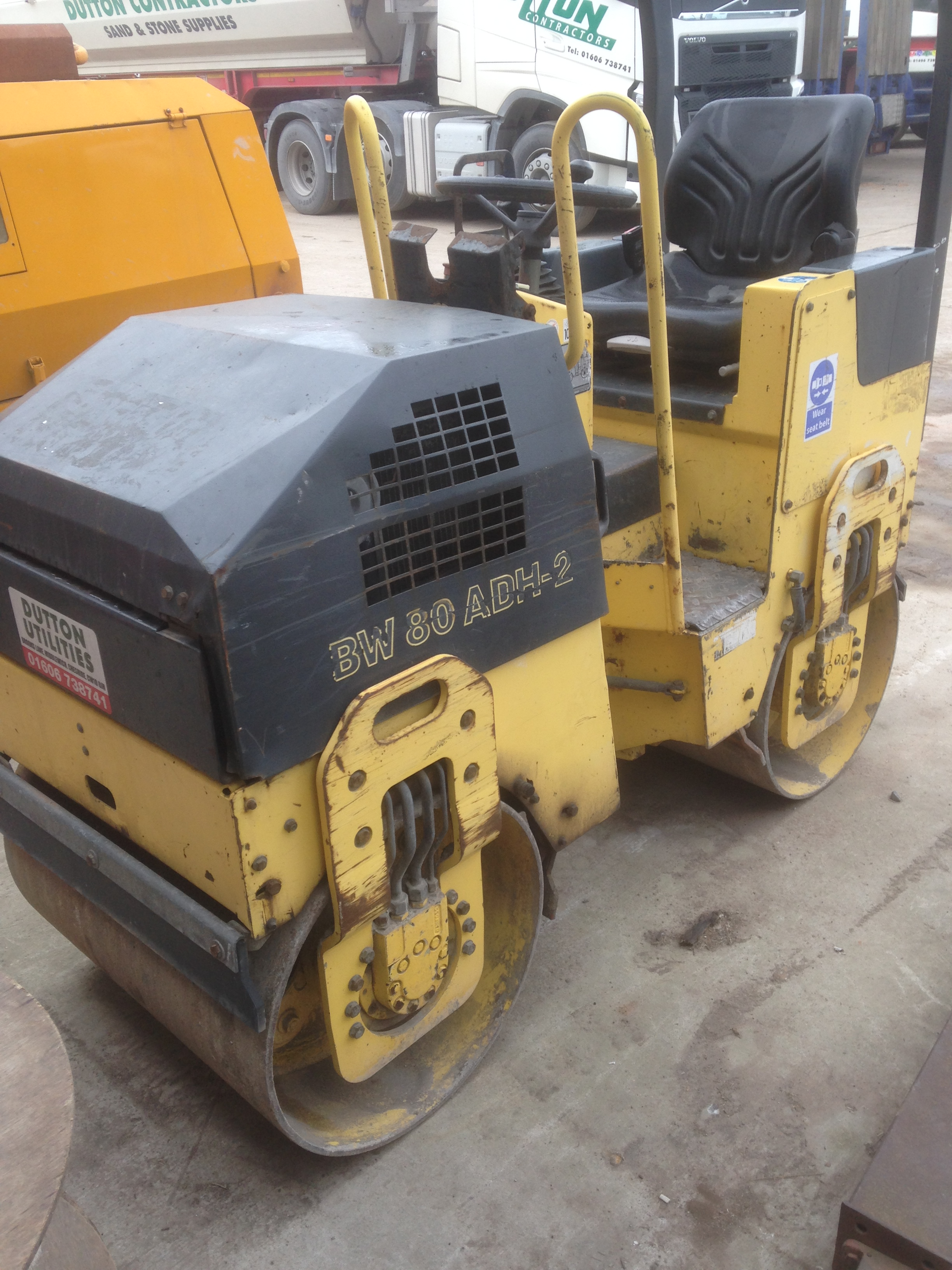 Lot 37 - Bomag BW80 ADH-2 twin drum roller c/w plant trailer