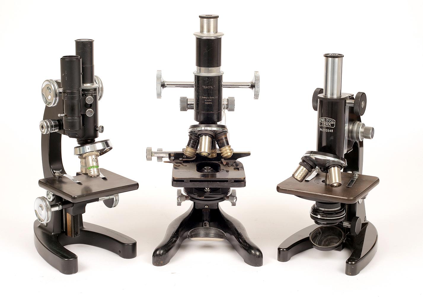 Lot 44 - Three Good Microscopes.