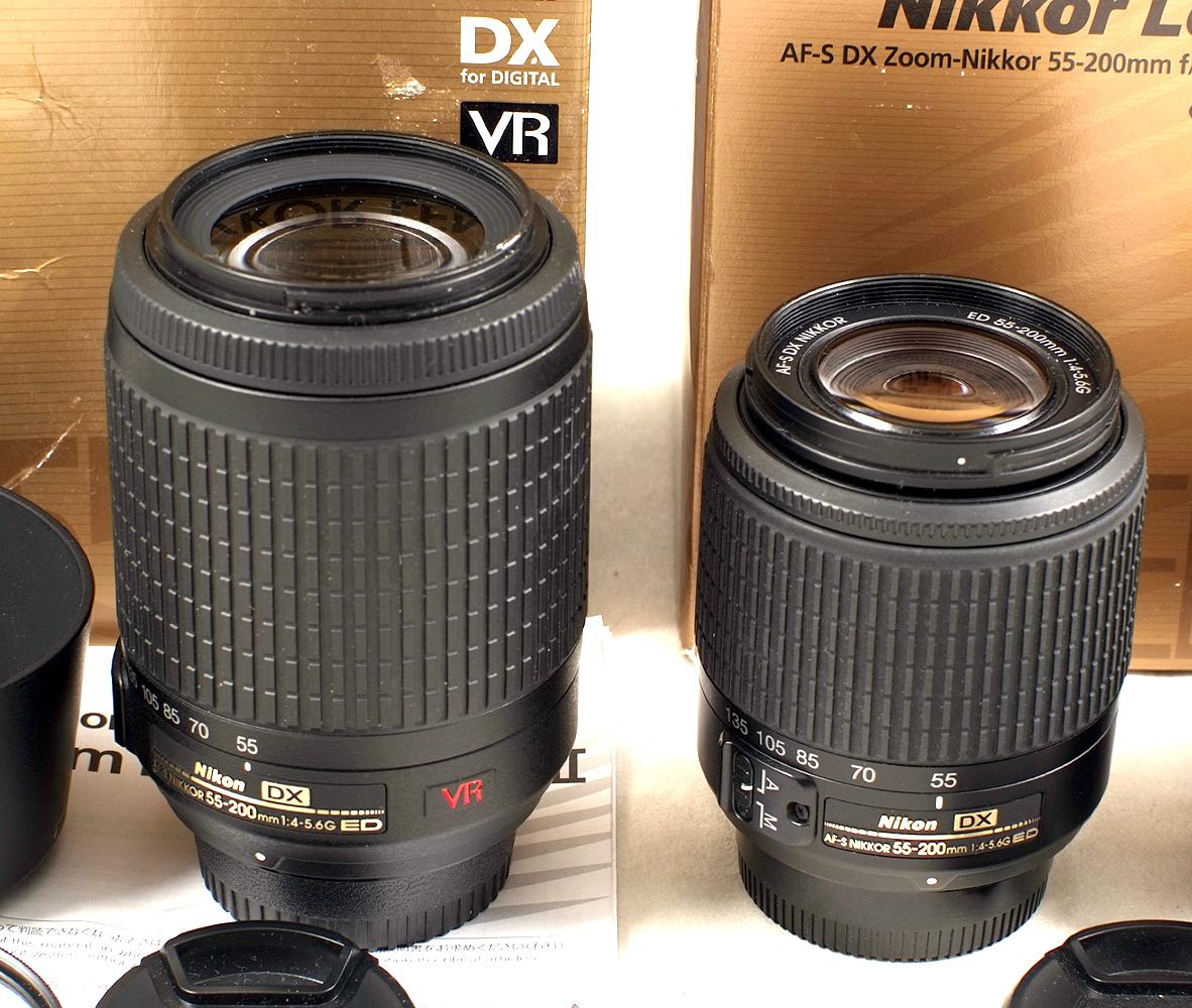 Lot 40 - Nikkor f4-5.6 G ED VR 55-200mm Zoom Lens. (condition 4/5E).