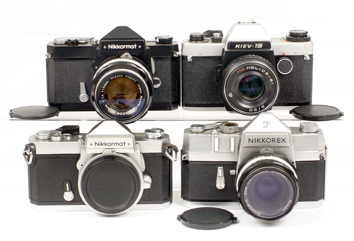Lot 14 - Nikkormat Film Cameras Collection.